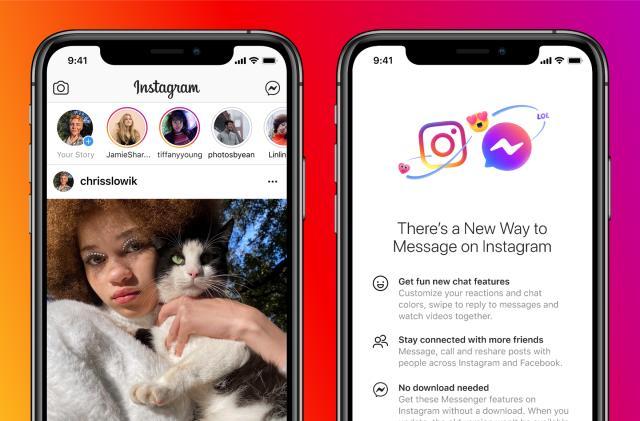 Facebook brings Messenger into Instagram DMs