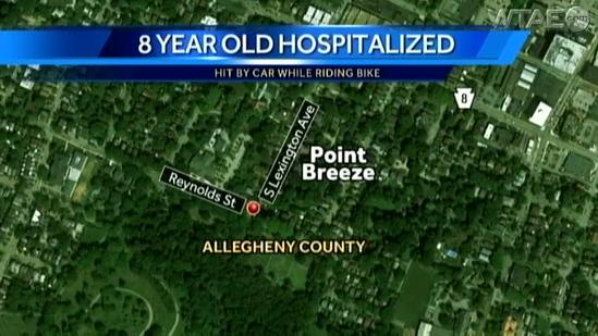 Boy, 8, hit by SUV while riding bicycle with family