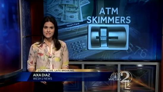 Bank employee spots skimmer on ATM