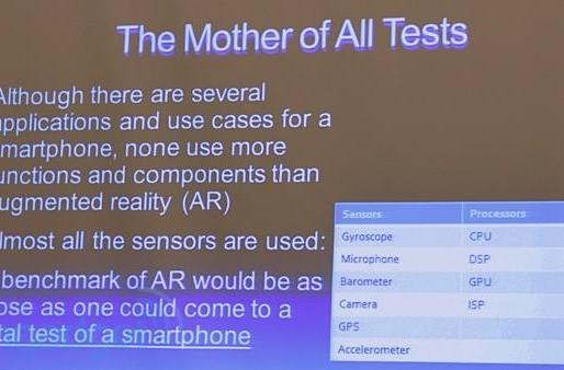 Is Qualcomm considering an AR benchmark as 'the mother of all tests'?