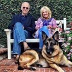 Biden twists ankle while playing with his dog Major