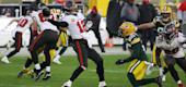 Tampa Bay Buccaneers quarterback Tom Brady throws against Green Bay on Jan. 24. (Getty Images)