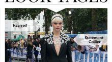 Look des Tages: Cara Delevingne ohne BH und mit Juwelen-Cape