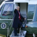 Trump bids farewell to Washington, hints of comeback
