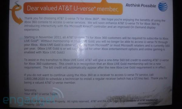 U-verse on Xbox 360 is getting upgraded in November, but will require XBL Gold