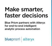 Blue Prism Partners with Alteryx to Drive Faster, More Reliable Data Analytics