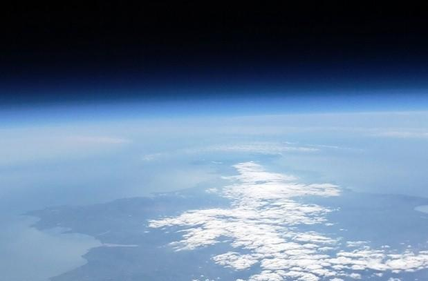 Earth, as seen by Raspberry Pi camera attached to weather balloon