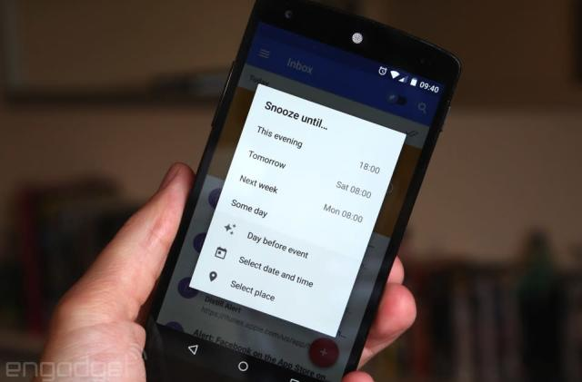 Google Inbox suggests the perfect time to resurface 'snoozed' emails