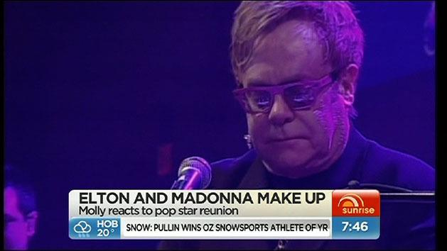 Elton makes peace with Madonna