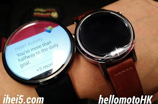 Compare the new Moto 360 against its larger predecessor