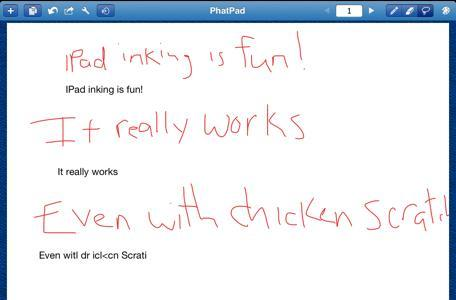 PhatPad offers decent handwriting recognition and numerous sharing options for digital inkers