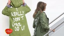 Melania Trump under fire for her jacket choice