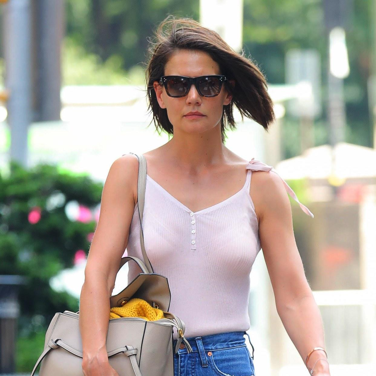 Katie Holmes Debuts a Cool New Look, Just in Time for ...