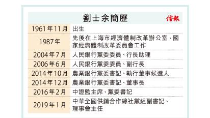 中證監前主席劉士余涉違法主動投案