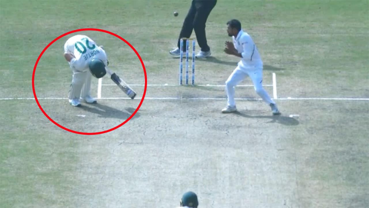 'Never seen that': Cricket world stunned as 'extraordinary' dismissal ends Test match