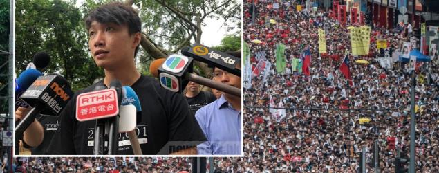 民陣:周日以流水式舉行集會 籲市民要「和理非」向政府施壓
