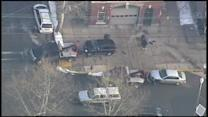 Car, SUV collide in front of firehouse in Trenton, N.J.