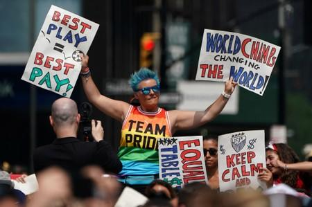 Love more, hate less, chants World Cup champ Rapinoe, snubbing White House