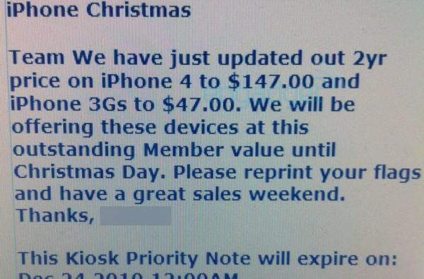 iPhone 4 hits new low of $147 on contract at Sam's Club this week