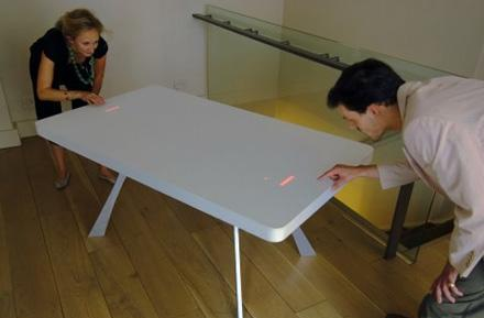 Moritz Waldemeyer crafts LED-based Pong / roulette tables