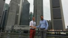 He landed in Singapore with just a phone number; two years later, this entrepreneur announced a merger