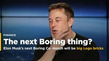 Elon Musk's next Boring Co. merch will be big Lego bricks made from tunnel rock