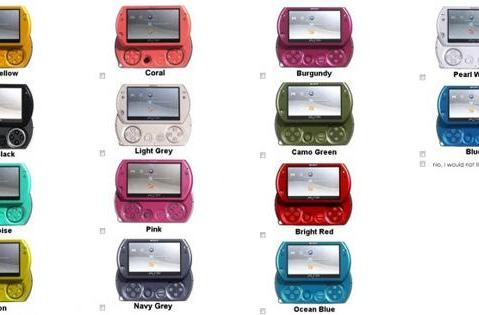 Sony surveying PSP Go audience, wants color suggestions