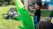 Boy's backyard play session turns dangerous, but can you see why?