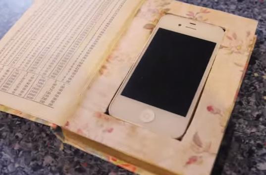 Build a DIY secret iPhone case inside an old book