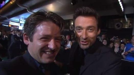 Hugh Jackman Chats With Ex-Student on the Red Carpet