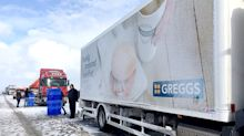 Greggs driver hailed a 'top guy' after handing out doughnuts to stranded motorists