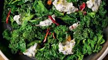 Burnt Green Onion Dip with Curly Kale from 'NOPI'