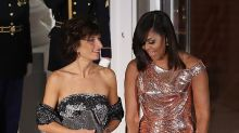 Michelle Obama's state dinner dresses: 13 gowns worth remembering