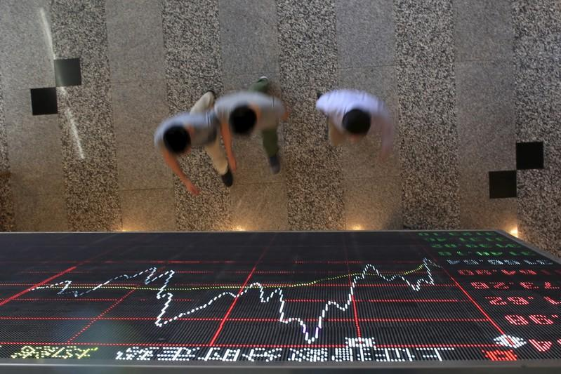 Global stocks edge higher; oil, dollar gain on trade hopes