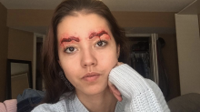 Squiggle brows have been given a terrifying new twist