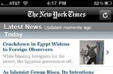 The New York Times to provide reporters with the iPhone 4