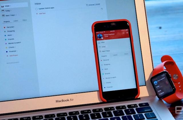 All of Todoist's Apple apps are getting an update today