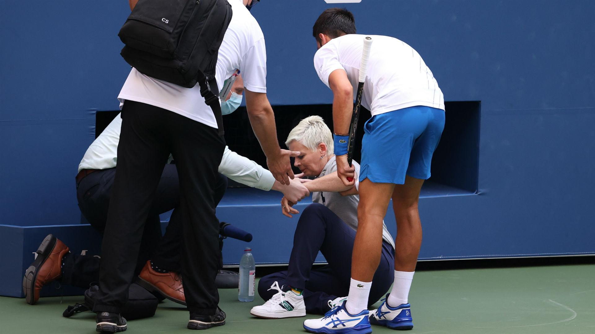 Us Open 2020 Djokovic Defaulted For Hitting Linesperson With Ball