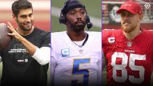 Fantasy Injury Updates: Jimmy Garoppolo, Tyrod Taylor, George Kittle impact Week 4 start 'em, sit 'em calls