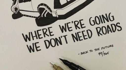 Artist Delivers Illustrated Movie Quote Every Day for One Year
