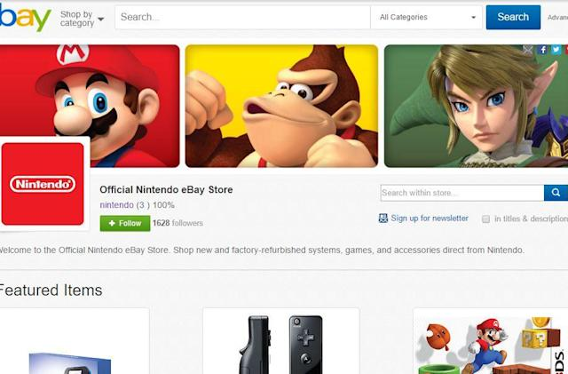 Nintendo opened an eBay store for some reason