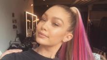 Gigi Hadid Takes On Rainbow Makeup On Instagram