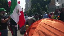 Se registra conato de riña en plantón del FRENAAA en avenida Juárez