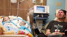 Mãe compartilha foto chocante da filha e pai em estado terminal para mostrar a realidade do câncer