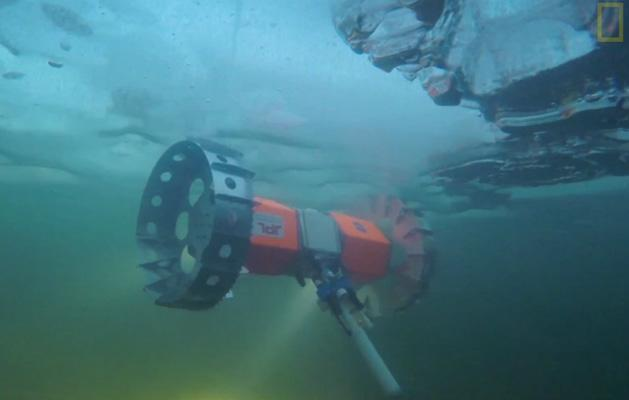Prototype NASA rover can ride on the underside of frozen lakes