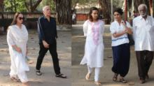 Mahesh Bhatt, Swara Bhasker Attend Raj Kumar Barjatya's Funeral