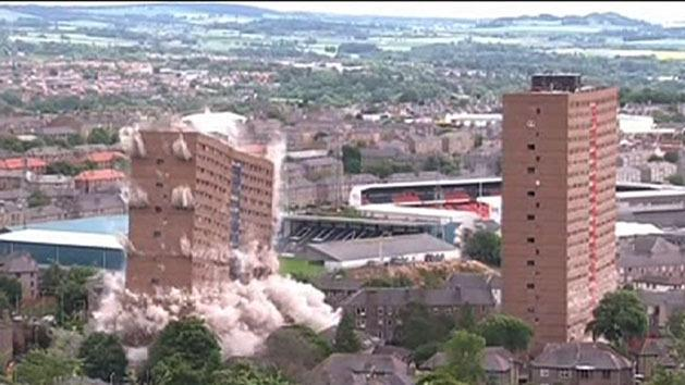 Spectacular high rise demolition