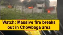 Watch: Massive fire breaks out in Chowbaga area
