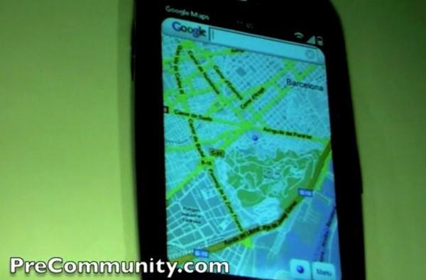Google demos HTML5-based Maps on the Palm Pre