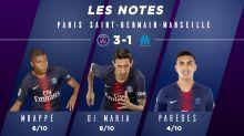 PSG-OM (3-1) : Les notes des Parisiens